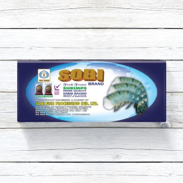 Sobi Raw Fresh Water Shrimp | Headless Shell on | Image 1